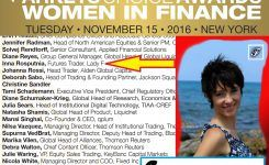 Accounts managed by felame trader, nominated to Women in Finance Awards in 2016